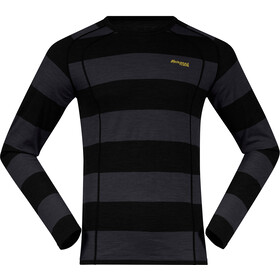 Bergans Fjellrapp T-shirt Homme, solid charcoal/black striped